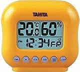 タニタ デジタル温湿度計 置きタイプ オレンジ TT-532-OR