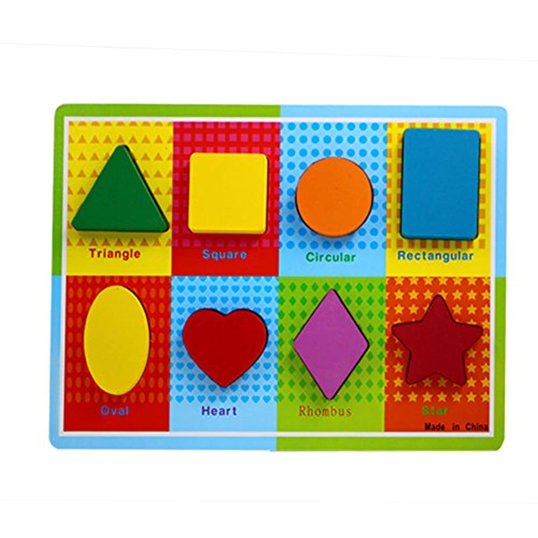 幼児用パズルおもちゃステレオグラフィカル形状木製