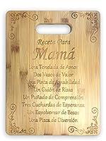 Receta Para Mamaレシピfor a Mom (スペイン語) Cute Funnyレーザー刻印竹カッティングボード–結婚、新築祝い、記念日、誕生日、母の日、ギフト