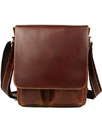 (チョウギュウ)潮牛 メンズ 本革 レザー ショルダーバッグ 斜め掛けバッグ メッセンジャーバッグ iPad対応