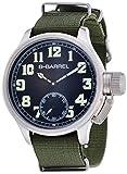 [ビーバレル]B-Barrel 腕時計 機械式スモールセコンド(手巻式) ブラック×カーキナイロン BB0046-1 メンズ