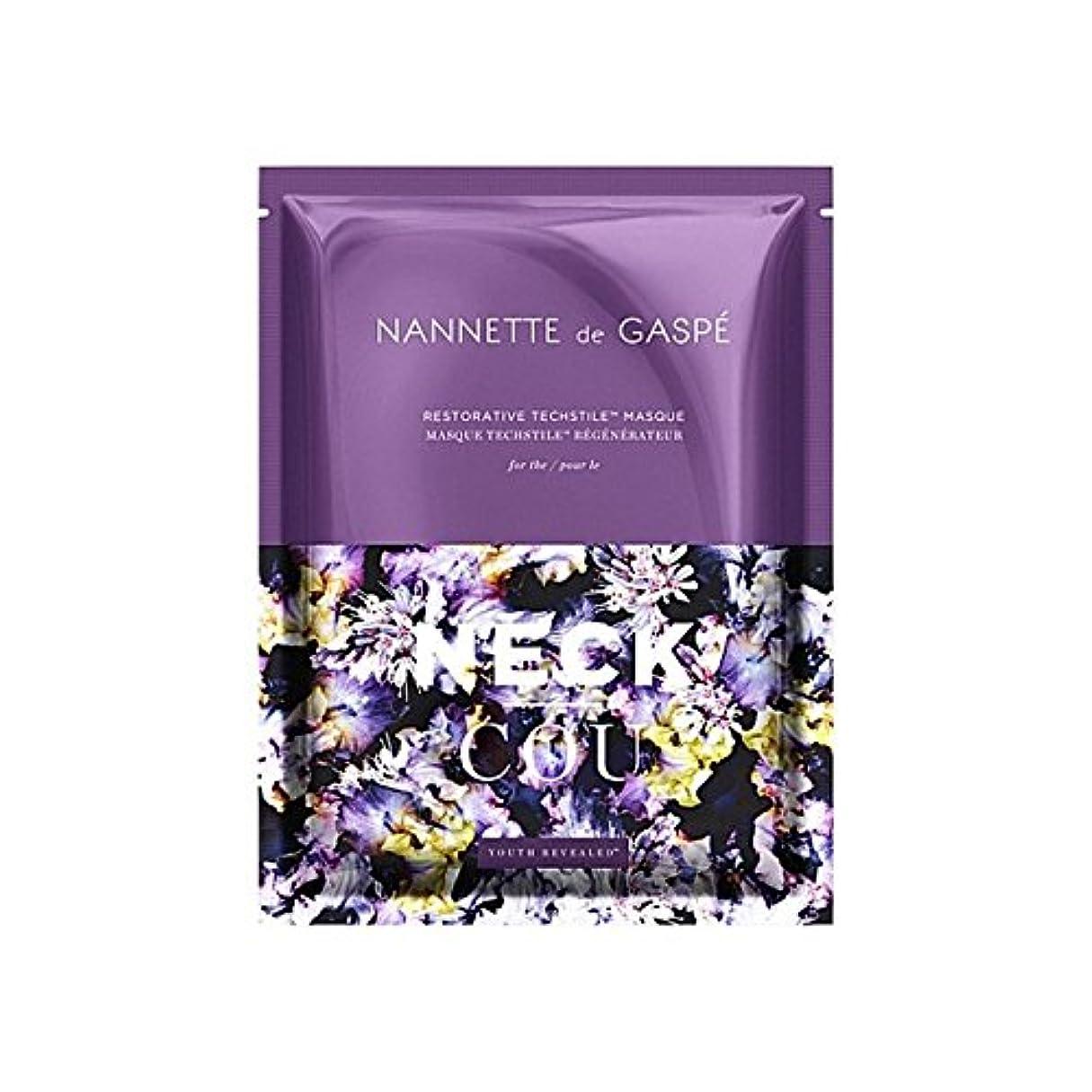 守るステッチアイロニーデガスペ修復首の仮面劇 x4 - Nannette De Gaspe Restorative Techstile Neck Masque (Pack of 4) [並行輸入品]