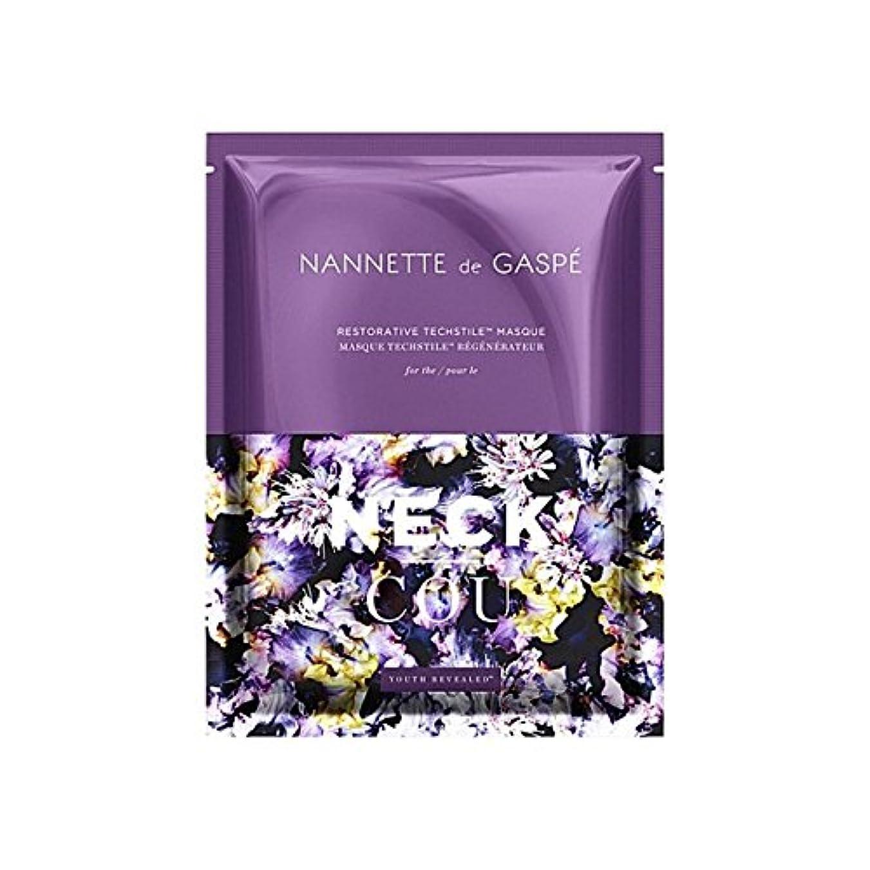 はっきりしない先入観ヒロイックデガスペ修復首の仮面劇 x4 - Nannette De Gaspe Restorative Techstile Neck Masque (Pack of 4) [並行輸入品]