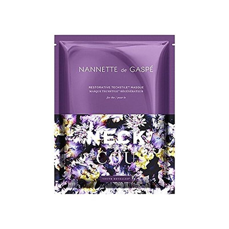 哲学的枯渇絶滅デガスペ修復首の仮面劇 x2 - Nannette De Gaspe Restorative Techstile Neck Masque (Pack of 2) [並行輸入品]