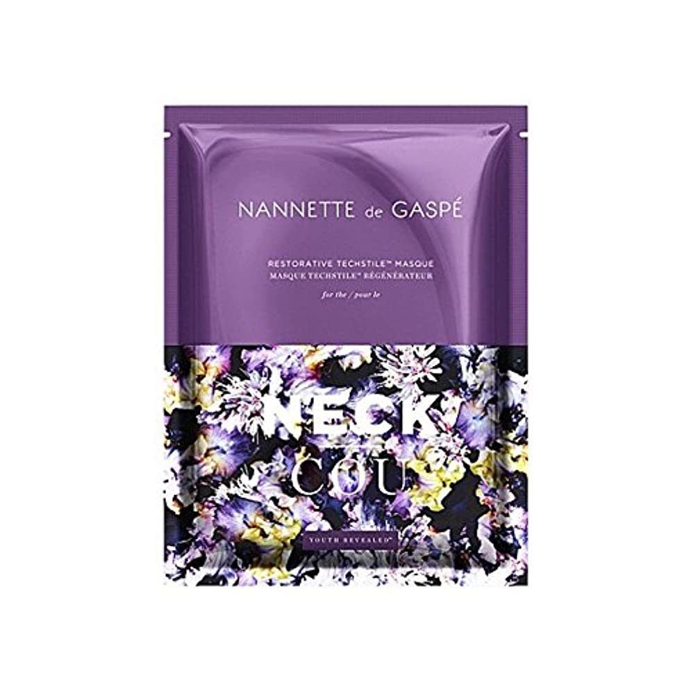 上ダイエット喜びデガスペ修復首の仮面劇 x2 - Nannette De Gaspe Restorative Techstile Neck Masque (Pack of 2) [並行輸入品]