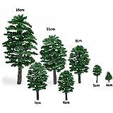 ShopXJ ジオラマ 模型 木 森 材料 キット 鉄道 庭 建物 ミニチュア 100本セット (5㎝)
