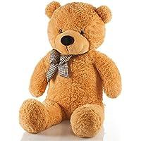 クマぬいぐるみ テディベア 巨大抱き枕 可愛いくま/抱き枕/クマ縫い包み/プレゼント/イベント/お祝い/ふわふわぬいぐるみ 特大ぬいぐるみソフト 可愛いぬいぐるみ (120CMライトブラウン)