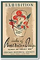 ヴィンテージWPA ExhibitionインデックスのアメリカのデザインChicago Illinoisアート–ポスター