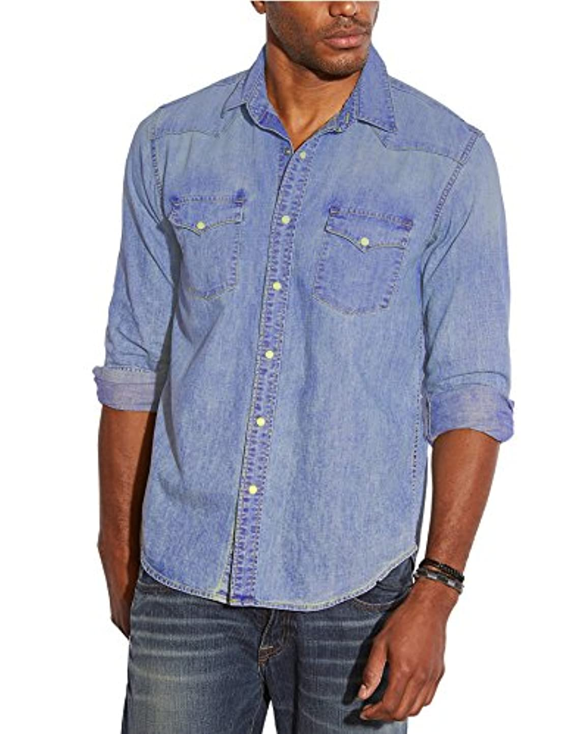 チーフアパート陰気Lucky Brand HOME メンズ US サイズ: Medium カラー: ブルー