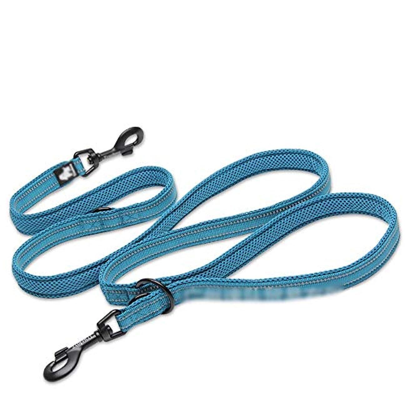 咽頭姿勢兄弟愛Jtydj 多機能犬用ハーネス、屋外ウォーキング用ハンドル付きの引くことのできない通気性の調整可能なベスト - これ以上引くことはありません (色 : 青)