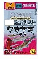 がまかつ(Gamakatsu) ワカサギ・チカ仕掛 細地袖(赤金)7本 W-201 2号
