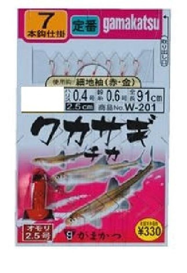 イーウェル郵便局君主制がまかつ(Gamakatsu) ワカサギ?チカ仕掛 細地袖(赤金)7本 W-201