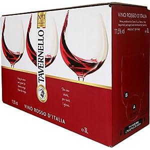 【世界NO.1イタリアテーブルワイン】 タヴェルネッロ ロッソ(バッグ イン ボックス 赤ワイン) 3L