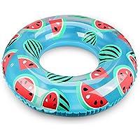 浮き輪 大人用 Oziral 浮輪 気筒不要 直径100cm 便利に携帯 快速 空気入れ 可愛い スイカ 海水浴 プール 海フロート