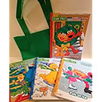 4 Sesame Street Jumbo Coloring and ActivityクリスマスBooks with Carrying Tote