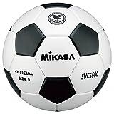ミカサ 検定球5号 貼りボール 白/黒 亀甲 SVC5500-WBK