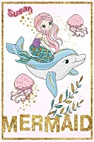 Susan Mermaid: Wide Ruled | Composition Book | Diary | Lined Journal