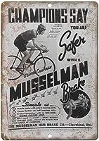 マッセルマンブレーキスピードバイク 金属板ブリキ看板注意サイン情報サイン金属安全サイン警告サイン表示パネル