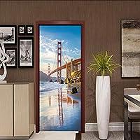 Lixiaoer 3Dステレオレンガパターン壁ドアステッカーポスターリビングルームの寝室の装飾-280X200Cm