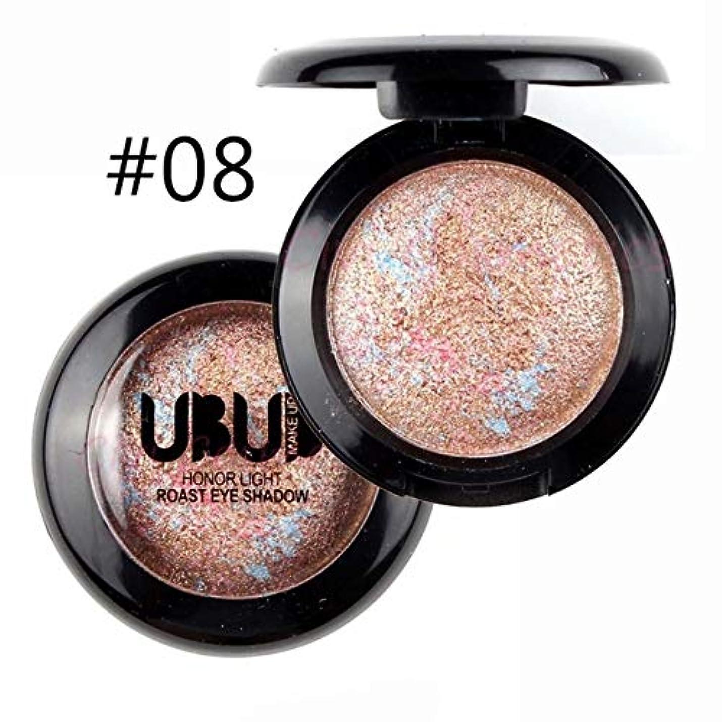 美容アクセサリー UBUB 3 PCS Professionalヌードアイシャドウパレットメイクアップマットアイシャドー(01真珠光沢) 写真美容アクセサリー (色 : 08 Gold bronze)