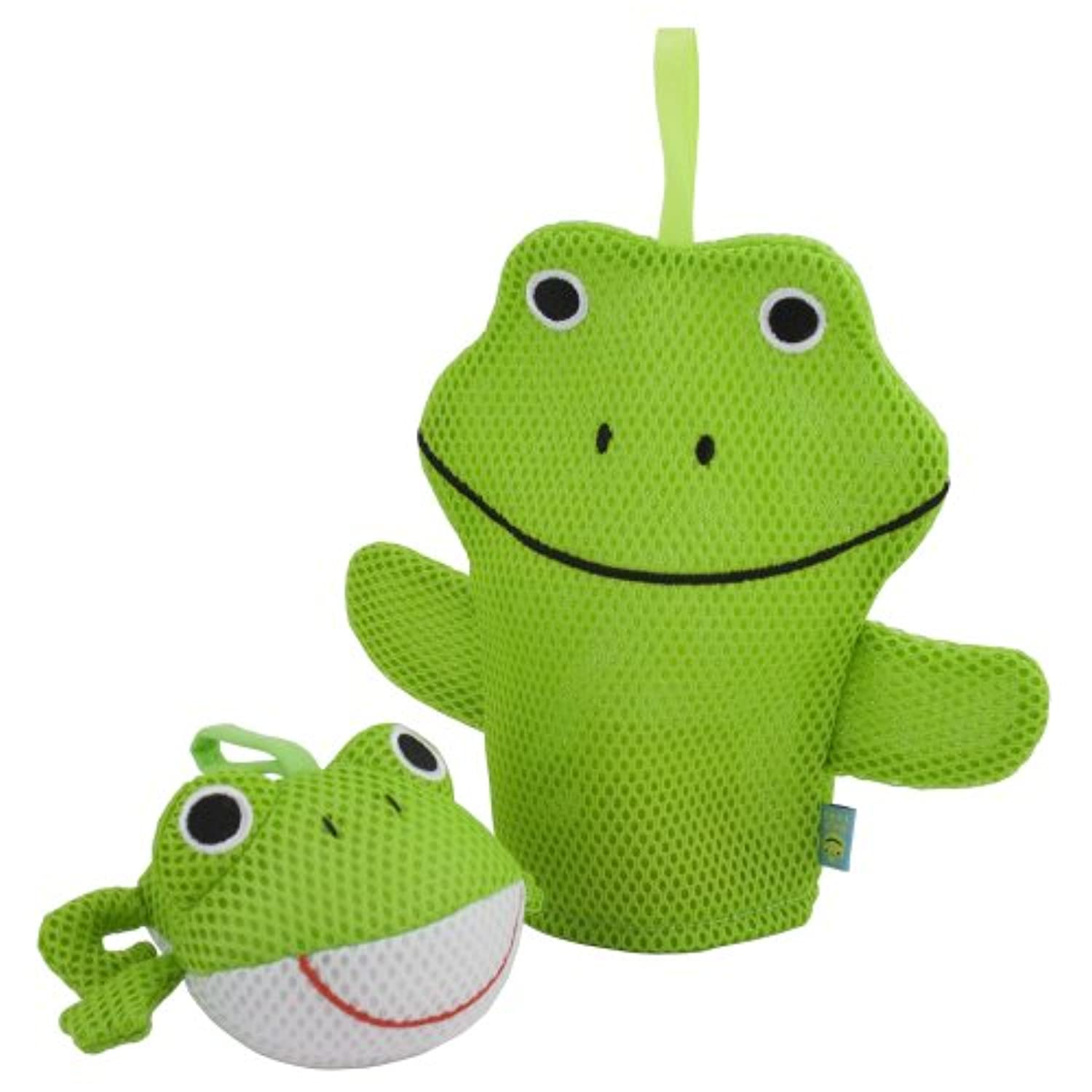 Rich Frog Wacky Wash Mitt and Bath Sponge Combo - Frog by Rich Frog