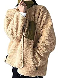 ボアブルゾン リバーシブル ボアジャケット ボアコート 2way ボア ブルゾン ジャケット コート アウター マウンテンパーカー フリースジャケット スタンドブルゾン もこもこ 防寒 ノーカラー レディース カジュアル 秋冬