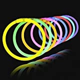Lumistick Authentic 8 Inch Glow Sticks - Bendable Glow Sticks with Necklace and Bracelet Connectors - Glowstick Bundle Party
