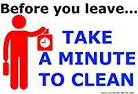 Before You Leave Take A Minute to Clean Vinyl PVC Sign [並行輸入品]