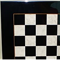 Lacquered Black and White Chess Board, 20 1/2