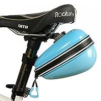 自転車 サドルバッグ サイクリング かんたん装着 バイクバッグ 小物入れ 自転車カバン マウントドライバッグ (ブルー)