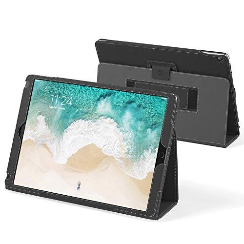英国Snugg社製 Apple iPad Pro 用 レザーケース - スタンド機能・生涯補償付き (ブラック)