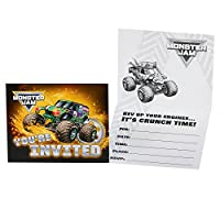 Monster Jam Party Supplies - Invitations