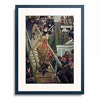 ジェームズ・ティソ James Tissot (ジャック=ジョゼフ・ティソ Jacques-Joseph Tissot) 「Embarquement a Calais」 額装アート作品