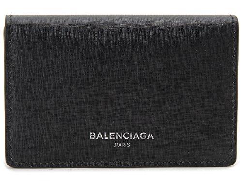 バレンシアガ BALENCIAGA 名刺入れ カードケース 440620-DLK2N-1075 ブラック ESSEN. CARD CASE BK [並行輸入品]