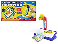 Little Treasures Projector Painting Play set - kids draw & learn art with projecting images - with Projector 3 Lantern Slides 21 Patterns and 12 water pens Education set for Girls & Boys ages 3+ [並行輸入品]