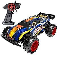 ラジコンカー REMOKING RCおもちゃ リモコンカー おもちゃ 男の子 1/22 2.4GHz無線電動 オフロード バギー 競技可能 2.4Ghz 高速車 4輪駆動 ミニRCカー 子どもおもちゃ (青2)
