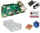 Raspberry Pi 3 Model B+ 技適対応 ベーシックスターターセット(基板本体・3B,3B+両対応クリアケース・ヒートシンク・ 5.1V/2.5A ラズベリー財団公式アダプタ)