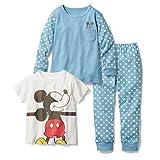 【Disney】ディズニー スムースパジャマ3点セット ミッキーマウス 120