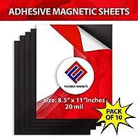 10 Adhesive Magnetic Sheets - 8.5 x 11-20 mil Magnet - Peel & Stick [並行輸入品]