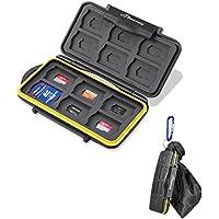 Beeway® メモリカードケース コンパクト 防水防塵 持ち運びやすい 24スロット SDカード12枚 マイクロSDカード12枚 大容量 SD SDHC SDXC Micro SD TF カード収納用