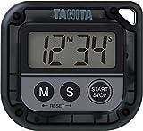 タニタ(Tanita) キッチンタイマー(デジタル) ブラック 100分計 丸洗いタイマー TD-376N-BK