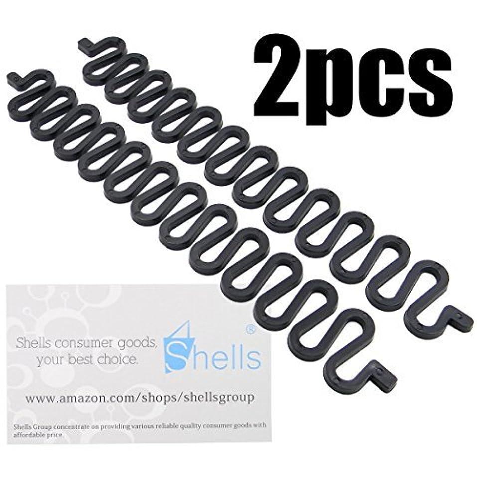 Shells 2PCS Sport Braider Hairstyling Tool French Hair Braiding Tool Black Color [並行輸入品]