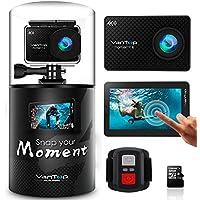 VANTOP MOMENT 4 アクションカメラ 4K ウェアラブルカメラ WIFI搭載 スポーツカメラ 32GGb MicroSD Card付属 170度広角レンズ バイク/自転車/車に取り付け Goproと互換性のあるアクセサリー SONY CMOSセンサ 30M防水 HDMI出力 日本語マニュアル付属