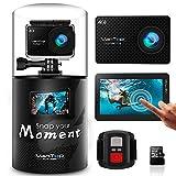 VANTOP MOMENT 4 アクションカメラ 4K ウェアラブルカメラ WIFI搭載 スポーツカメラ 32Gb MicroSD Card付属 170度広角レンズ バイク/自転車/車に取り付け Goproと互換性のあるアクセサリー SONY CMOSセンサ 30M防水 HDMI出力 日本語マニュアル付属