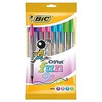 Bic Cristal Fun Ball Pen_Parent Pack 10 [並行輸入品]