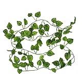 uxcell 模擬つる植物 壁掛け インテリア アンティーク 雑貨 造花 人工 フェイク グリーン 緑 植物 吊り