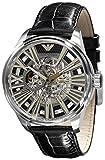 エンポリオアルマーニ Emporio Armani Men's AR4629 Meccanico Black Skeleton Dial Watch 男性 メンズ 腕時計 【並行輸入品】
