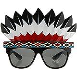 Kesoto インディアン ネイティブ アメリカン 眼鏡 サングラス 華麗なドレスパーティー、誕生日、仮面舞踏会 素敵な 飾り