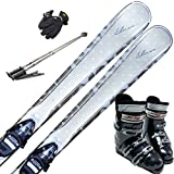 スキー5点セット ELAN 12-13 GOLD MAGIC 146cm ブーツ27cm ストック120cm メンズグローブ ワクシング施工