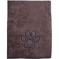 Sinland マイクロ ファイバー 超吸水 ペット用 タオル 犬 猫 体拭き タオル 75cmx127cm ブラウン
